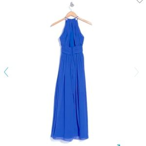 Dessy Collection Royal Blue Luxe Chiffon Dress